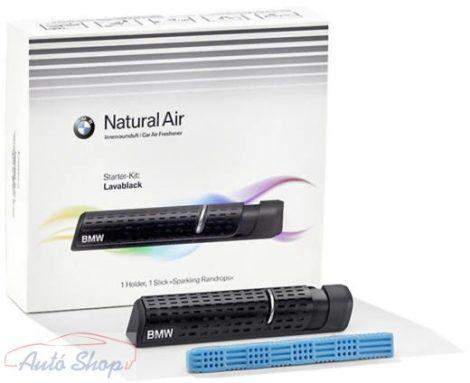 GYÁRI BMW LAVABLACK NATURAL Air Car illatosító tartó + 1 DB Starter Kit