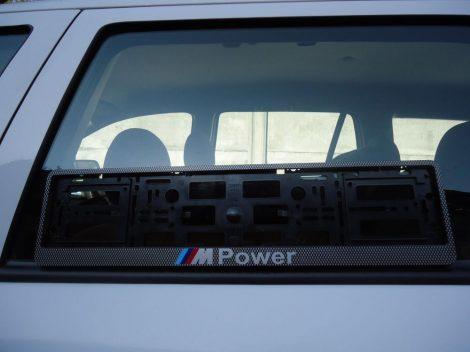 BMW  KARBON M POWER RENDSZÁMTÁBLA E30,E34,E36,E46,E39,E60,E90,E70 STB...