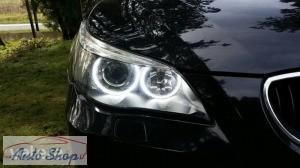 BMW ANGEL EYES OPAL LED E60,E61 KARIKA SZETT SZUPER ERŐS