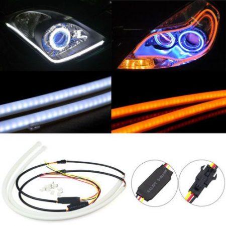 2x 30 cm LED Autó  DRL Nappali Fény Ultra Fehér