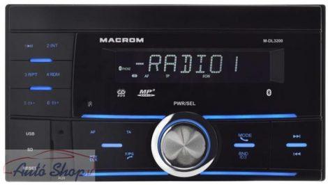 Macrom M-DL3200 Macrom 2DIN SD/USB autórádió Bluetooth funkcióval