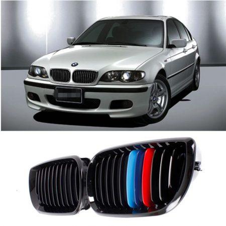 BMW E46 4- AJTÓS HÜTŐRÁCS VESE LAKK FEKETE M- ES 2002-2005