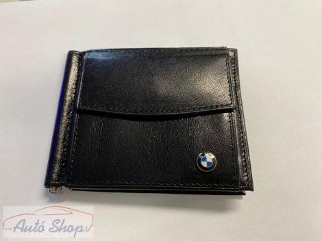 BMW bőr irattartó pénz csipesszel