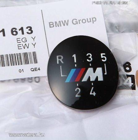 BMW gyári M VÁLTÓGOMB EMBLÉMA