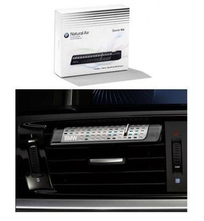 Gyári BMW valódi természetes NATURAL Air Car illatosító tartó + 1 DB Starter Kit