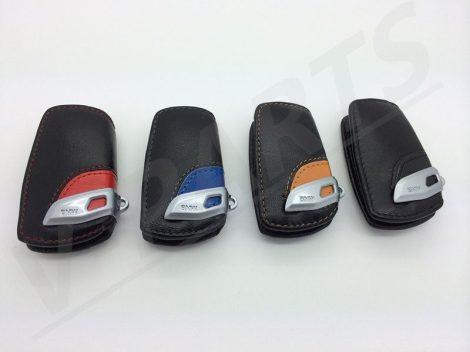BMW BŐR KULCSTARTÓ TOK FEKETE,PIROS,KÉK AKCIÓ !!!!