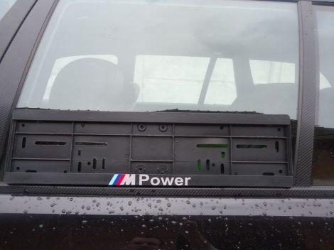 BMW M POWER  RENDSZÁMTÁBLA E30,E34,E36,E46,E39,E60,E90,E70 STB...
